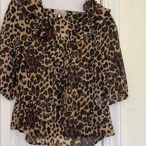 Tops - Leopard blouse